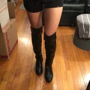 Aldo knee high black boots